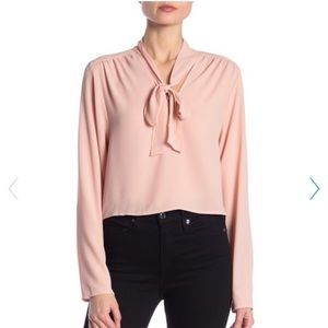 Black OR Blush pink blouse